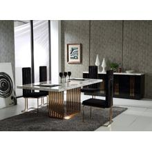 View Product - Modrest Kingsley Modern Marble & Rosegold Dining Table