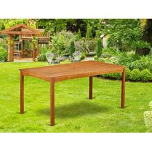 Rectangular Terrace Acacia wood Dining Table - Natural Oil Finish- Extension butterfly leaf