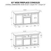 FP63E Fireplace Custom TV Console Product Image
