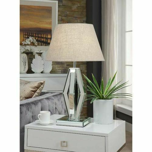 ACME Britt Table Lamp - 40122 - Mirrored & Chrome