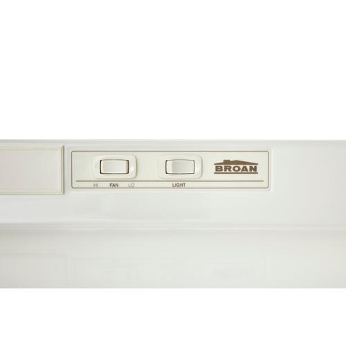 Broan® 36-Inch Convertible Under-Cabinet Range Hood, 160 CFM, Bisque