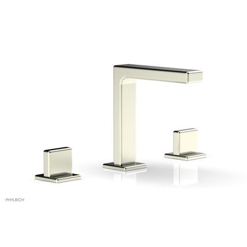 "MIX Widespread Faucet - Blade Handle 6-3/4"" Height 290-01 - Satin Nickel"