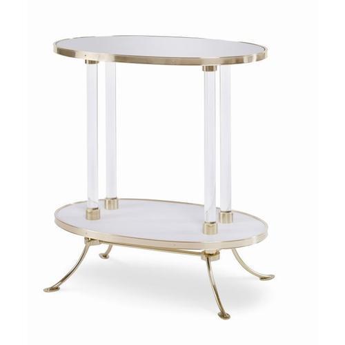 Juliet Cigarette Table With Plain Mirror