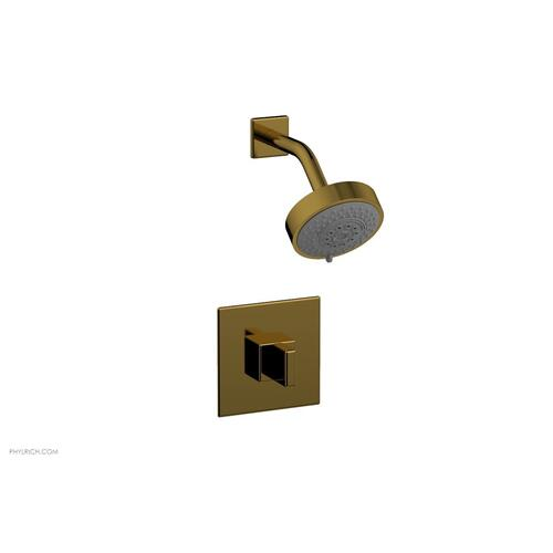 MIX Pressure Balance Shower Set - Blade Handle 290-21 - French Brass