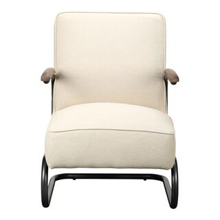 Perth Club Chair Beige Fabric