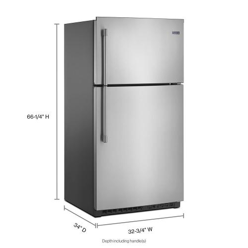 Maytag - 33-Inch Wide Top Freezer Refrigerator with EvenAir™ Cooling Tower- 21 Cu. Ft.
