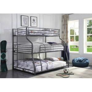 ACME Caius II Triple Bunk Bed - Twin/Full/Queen - 37450 - Gunmetal