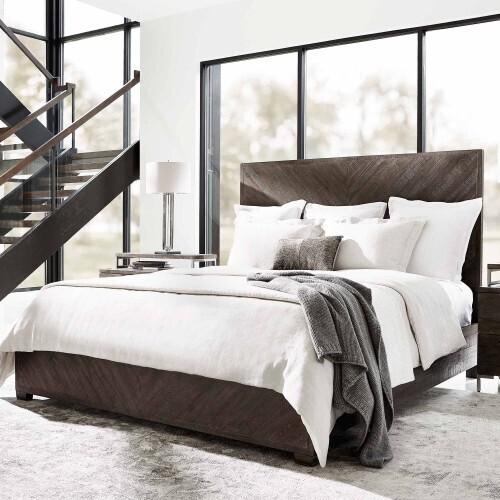 Gallery - King-Sized Fuller Panel Bed in Sable Brown
