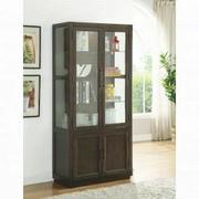 ACME Alanus Curio Cabinet - 90302 - Walnut Product Image