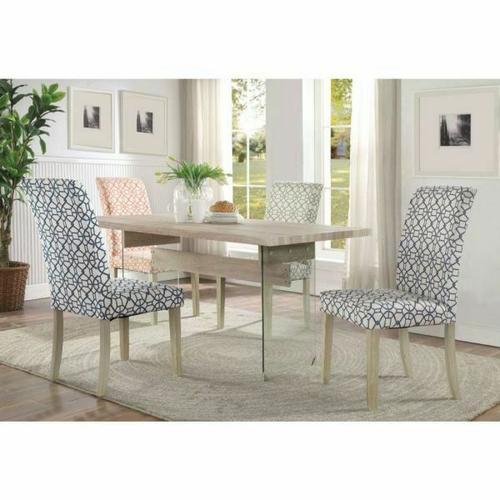 Acme Furniture Inc - ACME Glassden Dining Table - 71905 - Light Oak & Clear Glass