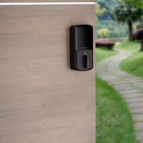 Kwikset - Aura Bluetooth Enabled Smart Lock - Matte Black