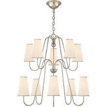 AERIN Montreuil 10 Light 35 inch Burnished Silver Leaf Chandelier Ceiling Light