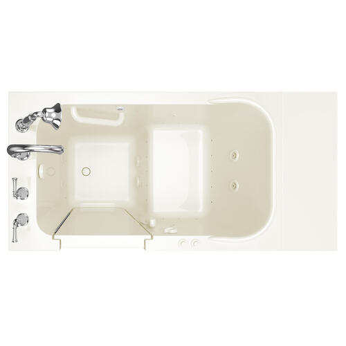 American Standard - Gelcoat Value Series 28x48-inch Walk-in Tub with Combo Air Spa and Whirlpool System  American Standard - Linen