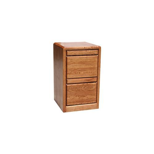 "O-C178 Modern Oak 2-Drawer Letter File Cabinet, 17 7/8""W x 16""D x 30""H"