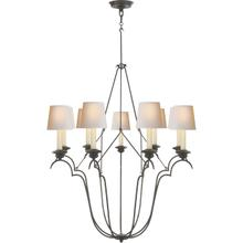 View Product - E. F. Chapman Belvedere 9 Light 33 inch Aged Iron Chandelier Ceiling Light