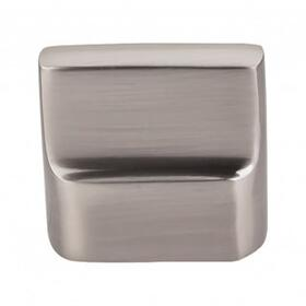Aspen II Flat Sided Knob 7/8 Inch (c-c) - Brushed Satin Nickel