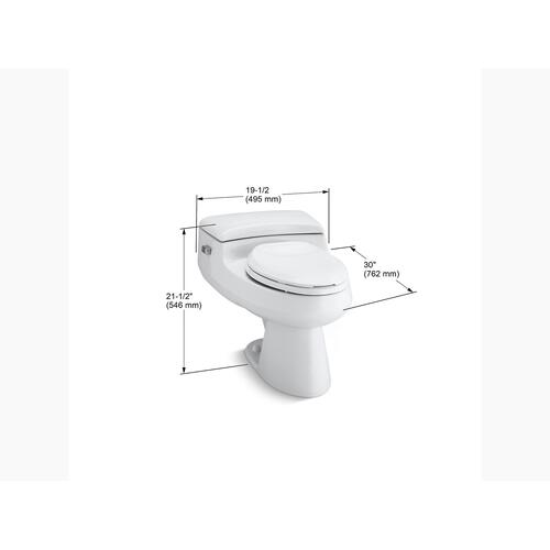 Ice Grey One-piece Elongated 1.0 Gpf Chair Height Toilet