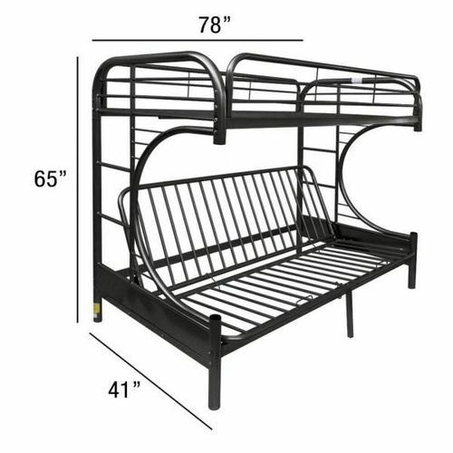 ACME Eclipse Twin/Full/Futon Bunk Bed - 02091W-BK - Black