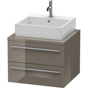 Vanity Unit For Console, Flannel Gray High Gloss (lacquer)