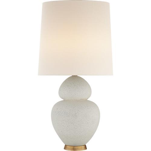 AERIN Michelena 34 inch 60 watt Chalk White Table Lamp Portable Light