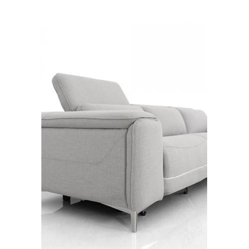 VIG Furniture - Divani Casa Cyprus - Contemporary Grey Fabric 4-Seater Sofa w/ Electric Recliners