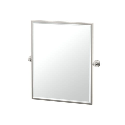 Reveal Framed Rectangle Mirror in Satin Nickel