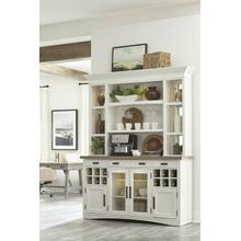 AMERICANA MODERN DINING 2pc 69 in. Buffet / Display Hutch with quartz insert