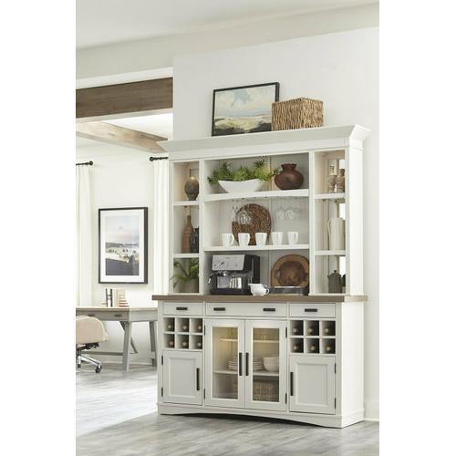AMERICANA MODERN DINING 2pc 69 in. Buffet / Display Hutch with quartz insert