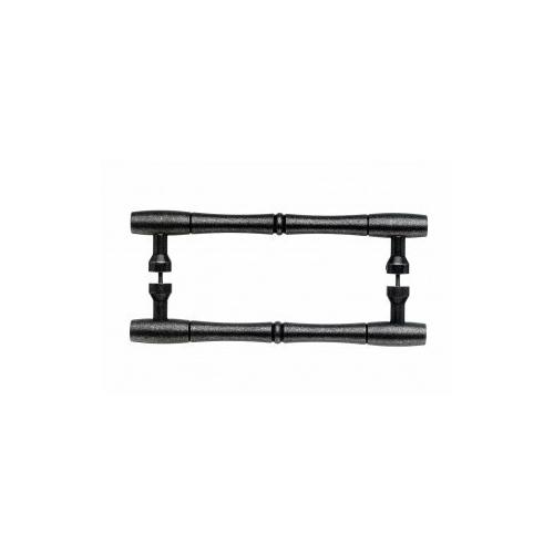 Top Knobs - Nouveau Bamboo Door Pull Back to Back 8 Inch (c-c) - Pewter