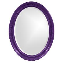 View Product - Queen Ann Mirror - Glossy Royal Purple