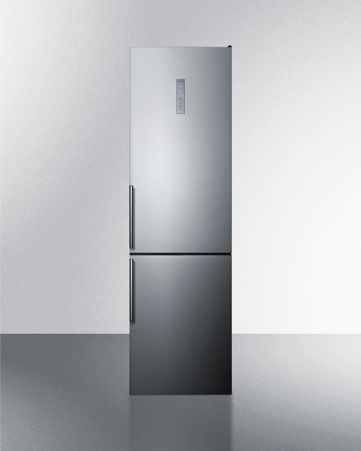"Summit24"" Wide Bottom Freezer Refrigerator With Icemaker"
