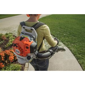 Gallery - A lightweight, professional-caliber backpack blower for use around the home.