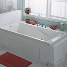 EverClean 72x36 inch Whirlpool - White