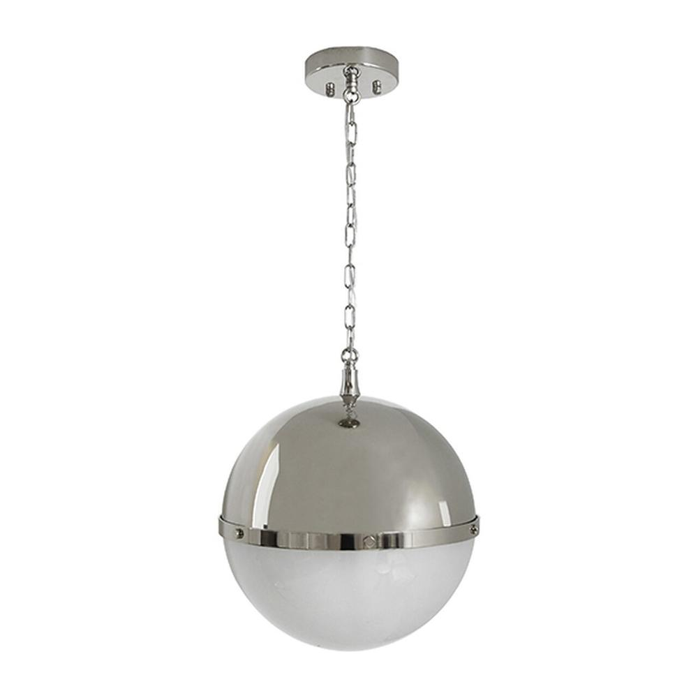 Globe Pendant With Frosted Glass In Nickel