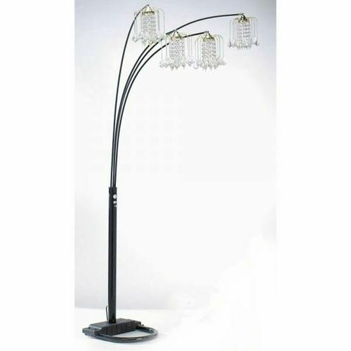 ACME Chandelier Floor Lamp - 03730BK - Black - Crystalline Lamp