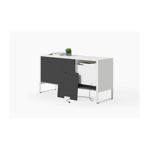 BDI Furniture - Linea 6220 Multifunction Cabinet in Smooth Satin White