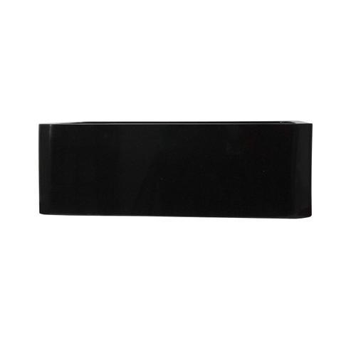 "Acantha Single Bowl Granite Farmer Sink - Polished Black / 33"""