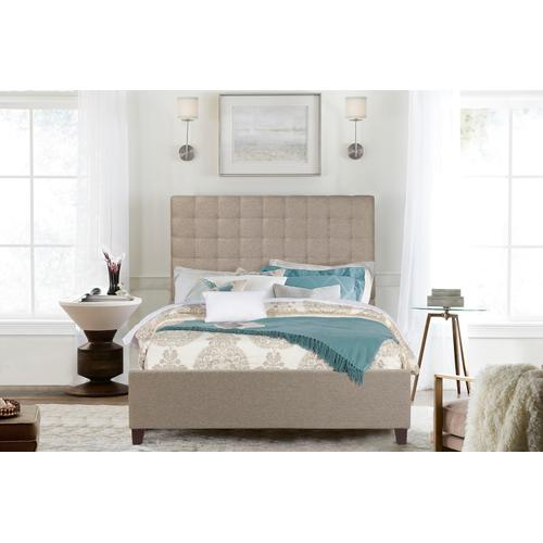 Bergen Queen Bed, Natural Herringbone