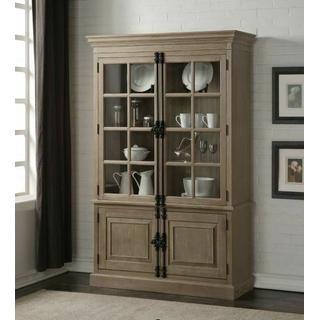 ACME Eleonore Curio Cabinet - 61303 - Weathered Oak