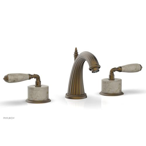 VALENCIA Widespread Faucet Beige Marble K338D - Old English Brass