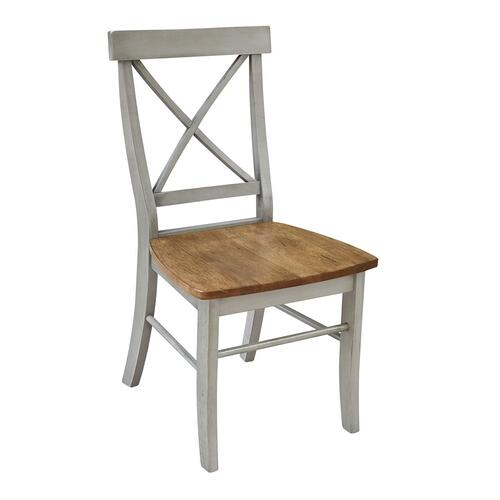 X-Back Chair in Hickory Stone