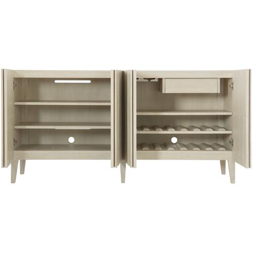 East Hampton Entertainment Console in Cerused Linen (395)