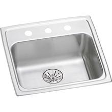 """Elkay Lustertone Classic Stainless Steel 19-1/2"""" x 19"""" x 6-1/2"""", Single Bowl Drop-in ADA Sink with Perfect Drain"""