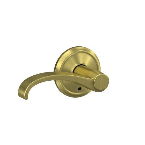Custom Whitney Non-Turning Lever with Alden Trim - Satin Brass