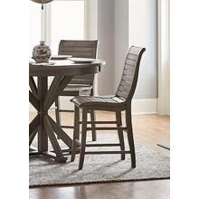 See Details - Wood Counter Chair (2/Carton) - Distressed Dark Gray Finish