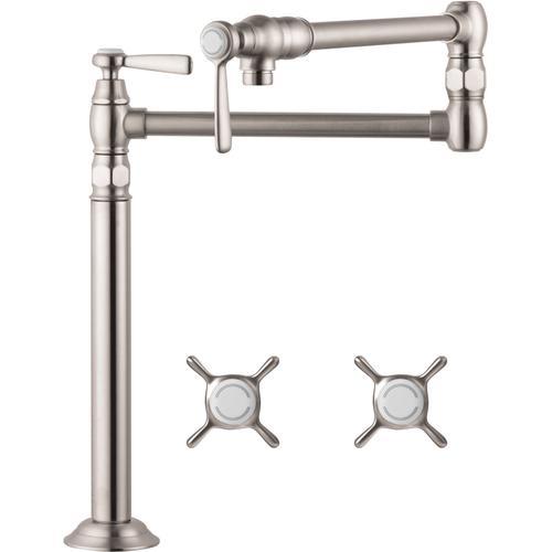 AXOR - Steel Optic Pot Filler, Deck-Mounted