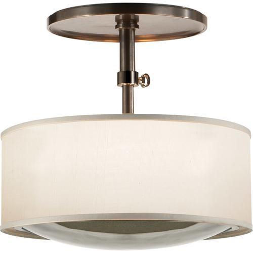 Visual Comfort - Barbara Barry Reflection 2 Light 15 inch Bronze Hanging Shade Ceiling Light
