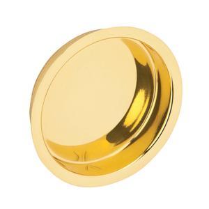 Door Hardware  Flush Door Pull - Bright Brass Product Image