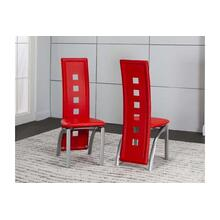 Valencia Side Chair-red 2pk
