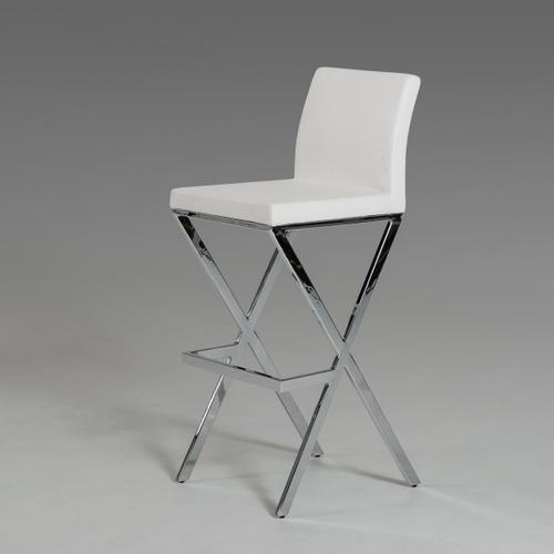 VIG Furniture - Modrest Dean Modern White Leatherette Bar Stool (Set of 2)